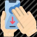finger, mobile, swipe, three