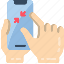 zoom, pinch, mobile icon