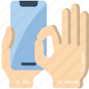 pinch, mobile icon