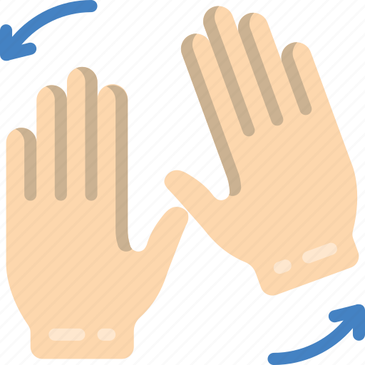 hand, rotate, two icon