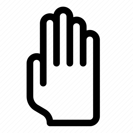 fingers, gesture, halt, hand, handbreadth, stop icon