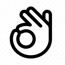 circle, gesture, ok, okay, zero icon