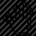 finger, five, press icon
