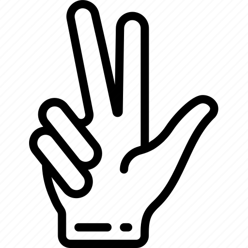 counting, finger, two icon
