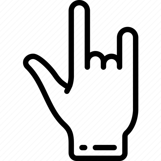 back, hand, rock, view icon