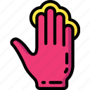 finger, four, press icon