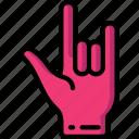 hand, rock icon