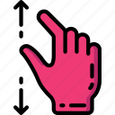 out, pinch icon