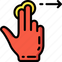 finger, swipe, two icon