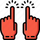hand, tap, two icon