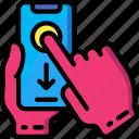 down, mobile, swipe icon