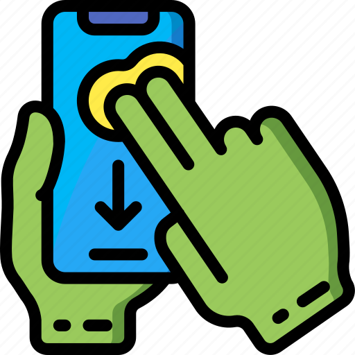 finger, mobile, swipe, two icon