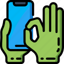 mobile, pinch icon