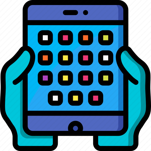 holding, tablet icon