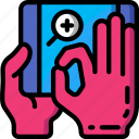 pinch, tablet, zoom icon