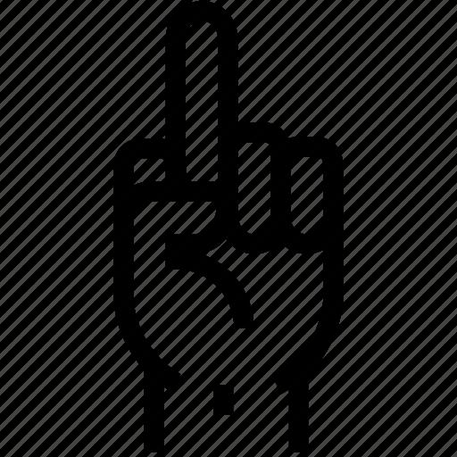 disrespect, finger, fuck, gesture, gestures, hand icon