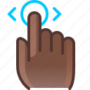 control, gesture, hand, hold, slide, touch, yumminky icon