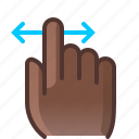 control, fingers, gesture, hand, horizontal, slide, yumminky icon