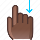 control, down, gesture, hand, scroll, slide, yumminky icon