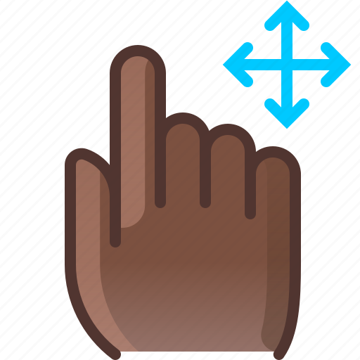 control, fingers, gesture, hand, move, yumminky icon