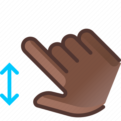control, gesture, hand, scroll, slide, vertical, yumminky icon