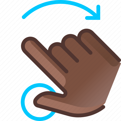 gesture, hand, hold, rotation, touch, turn, yumminky icon