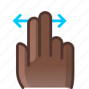 control, gesture, hand, horizontal, scroll, slide, yumminky icon