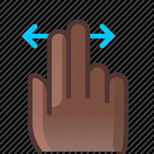 control, gesture, hand, horizontal, scroll, slide, yumminky icon
