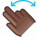 control, fingers, gesture, hand, rotation, turn, yumminky icon