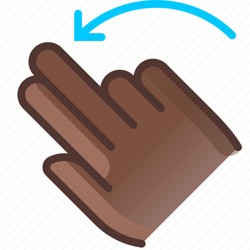 control, gesture, hand, left, rotation, turn, yumminky icon