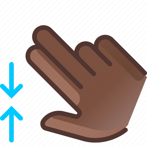 control, gesture, hand, pinch, vertical, yumminky, zoom out icon