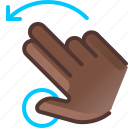 gesture, hand, hold, left, rotation, turn, yumminky icon