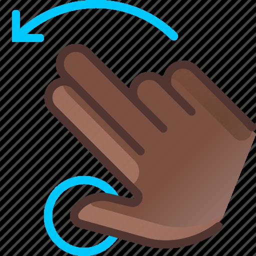 gesture, hand, hold, left, rotation, turn, yumminky icon