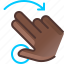 gesture, hand, hold, right, rotation, turn, yumminky icon
