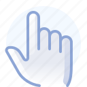 control, fingers, gesture, hand, show, touch, yumminky icon