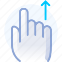 control, gesture, hand, scroll, up, vertical, yumminky icon