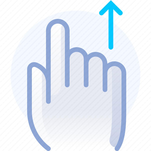 control, gesture, hand, scroll, up, vertical icon