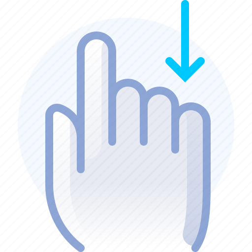 control, down, gesture, hand, scroll, vertical, yumminky icon