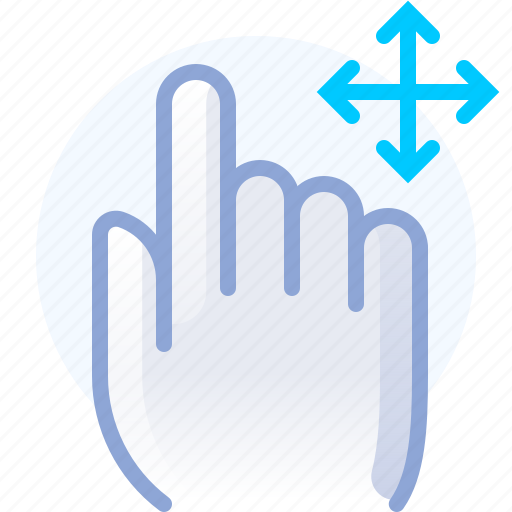 control, directions, fingers, gesture, hand, move icon
