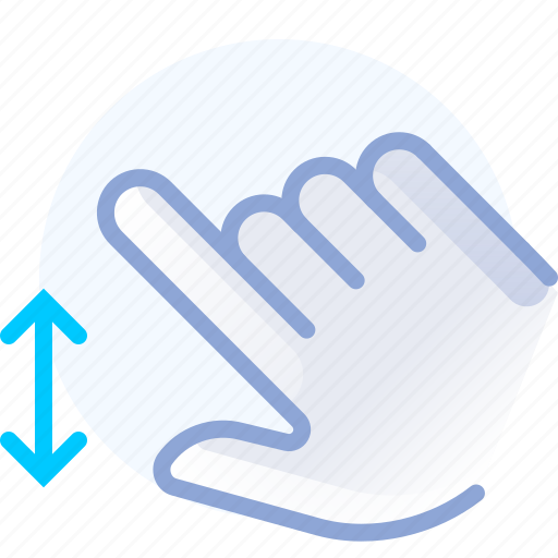 control, fingers, gesture, hand, scroll, vertical, yumminky icon