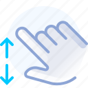 control, hand, scroll, spread, vertical, zoom in icon