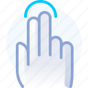 control, fingers, gesture, hand, tap, touch, yumminky icon