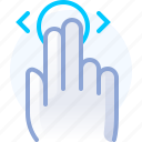 control, fingers, gesture, hand, touch, vertical, yumminky icon