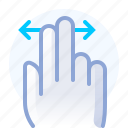 control, fingers, gesture, hand, horizontal, scroll, yumminky icon
