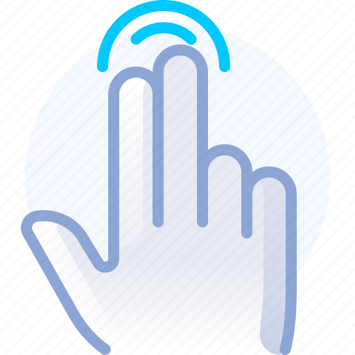 control, double, fingers, gesture, hand, tap, yumminky icon