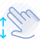control, fingers, hand, spread, vertical, zoom in icon