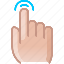 control, finger, gesture, hand, tap, touch, yumminky icon