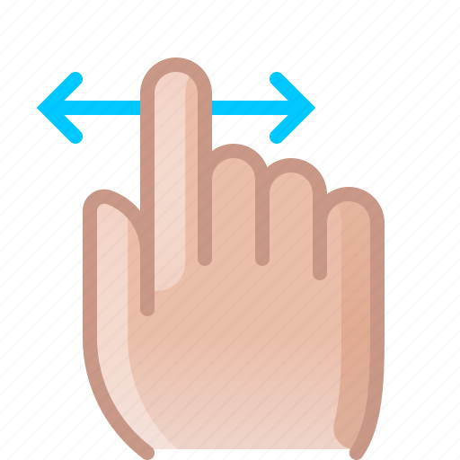 control, finger, gesture, hand, horizontal, scroll, yumminky icon