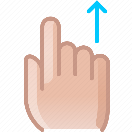 control, finger, gesture, hand, scroll, up, yumminky icon