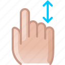 control, finger, gesture, hand, scroll, slide, yumminky icon